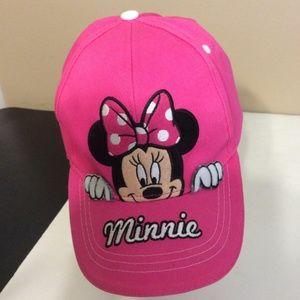Disney Minnie Mouse Adjustable Baseball Hat Cap OS